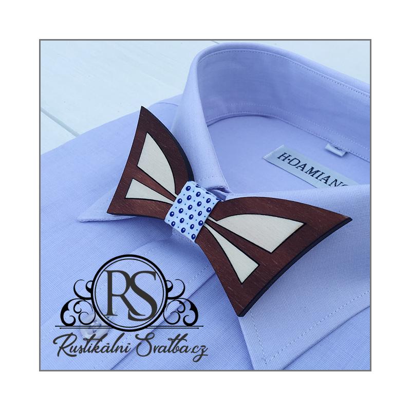 Dřevěné svatební motýlky