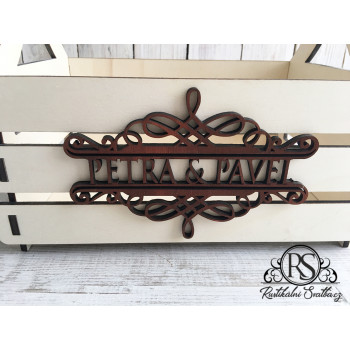 Dřevěný svatební košíček pro družičky na okvětní lístky