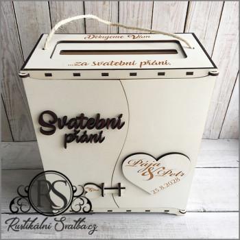 Velká krabice na svatební přání a finanční dary od svatebčanů