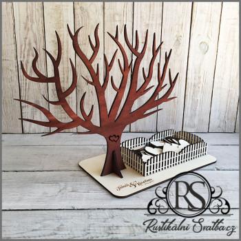 Svatební strom - kniha hostů ve tvaru stromu se srdíčky,  strom života, guest book