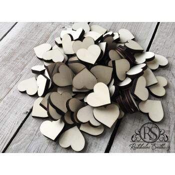 Dřevěná dekorativní srdíčka bez gravírování
