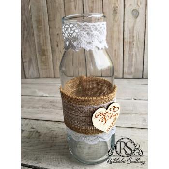 Skleněná svatební váza