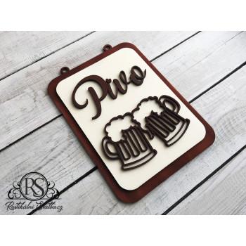 Dřevěná cedulka - označení svatebního výčepu