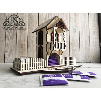 Dřevěný domeček na svatební čaj